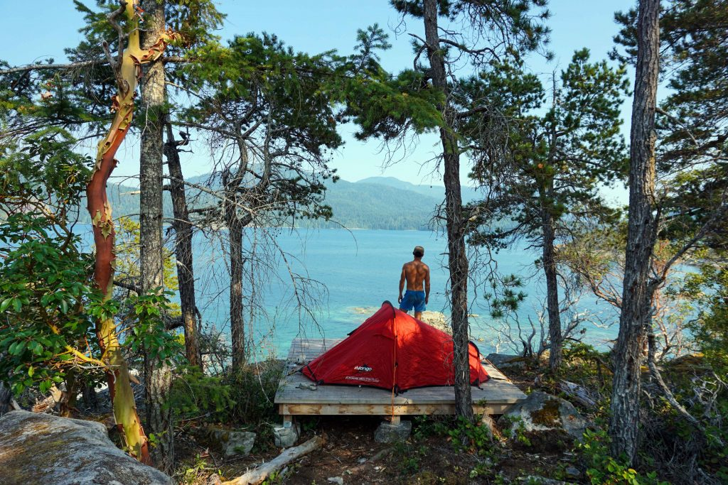 Tent pad on East Curme Island