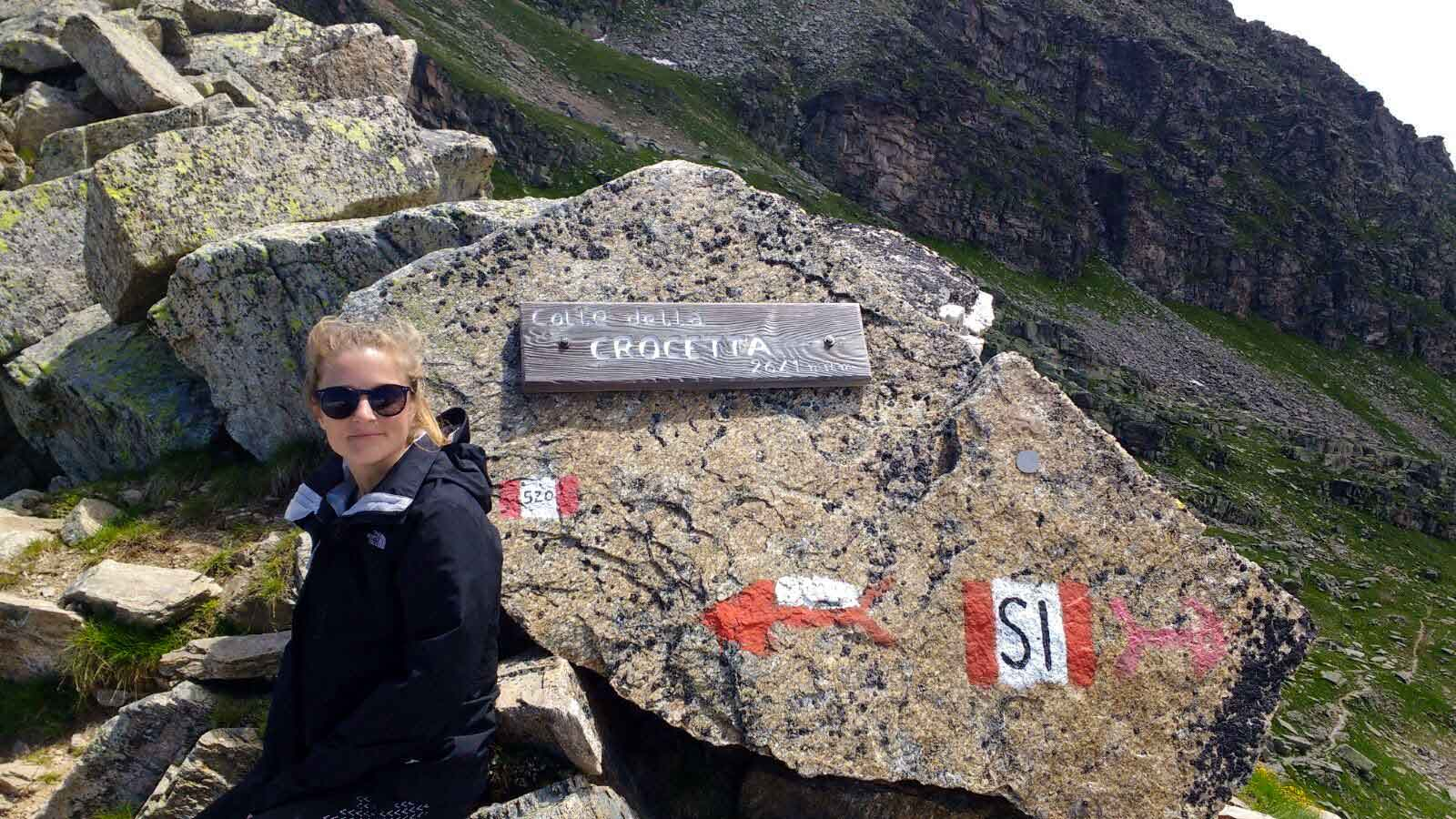 Mountain summit in Gran Paradiso National Park