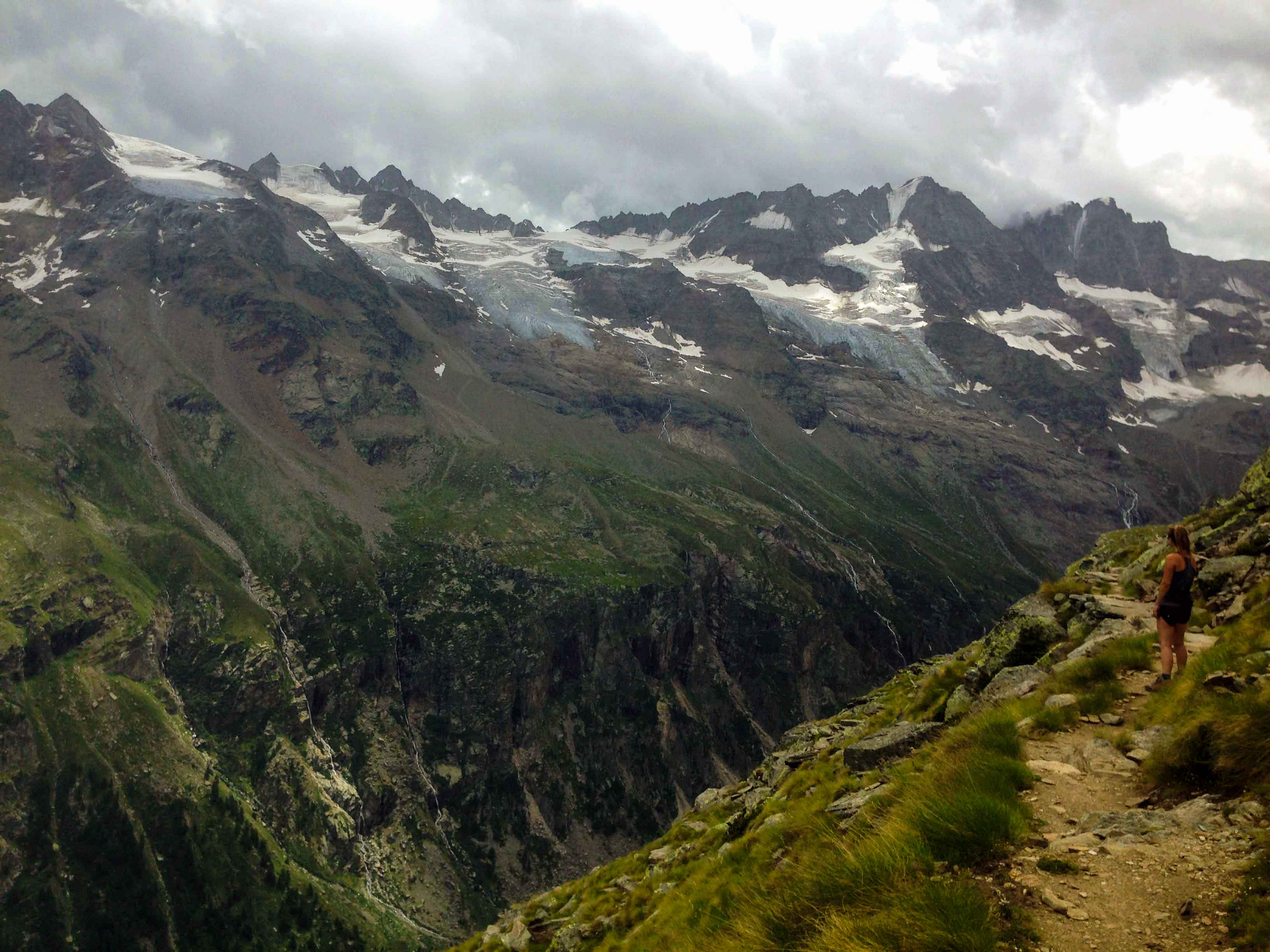 Valley cutting through Gran Paradiso National Park