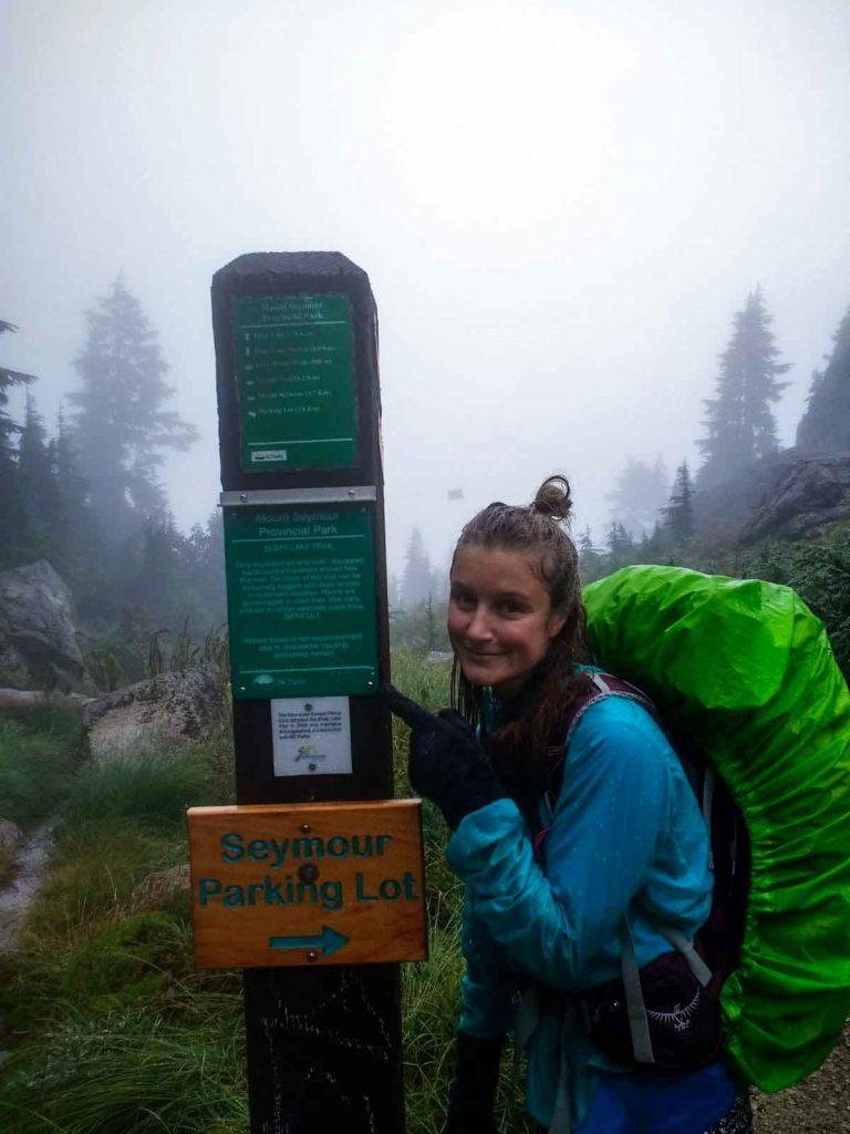 Sign towards Elsay Lake