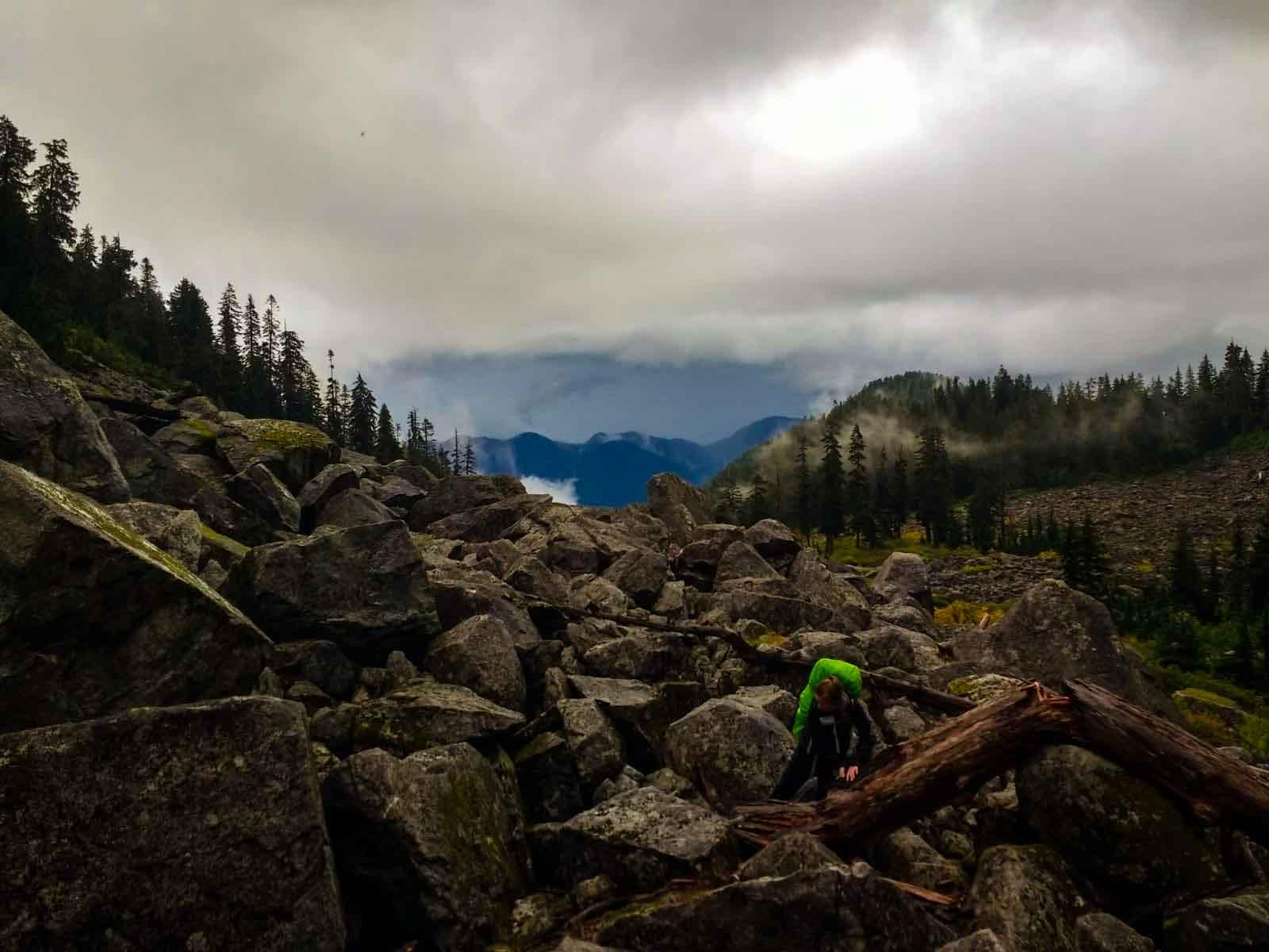 Boulder field near Mount Elsay