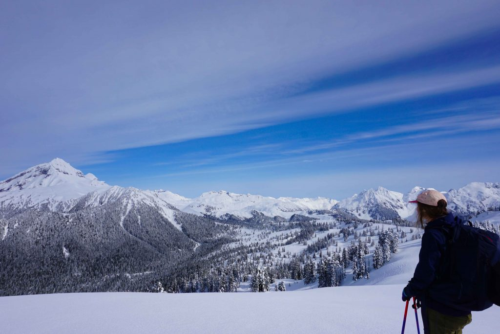 Ski touring in the backcountry
