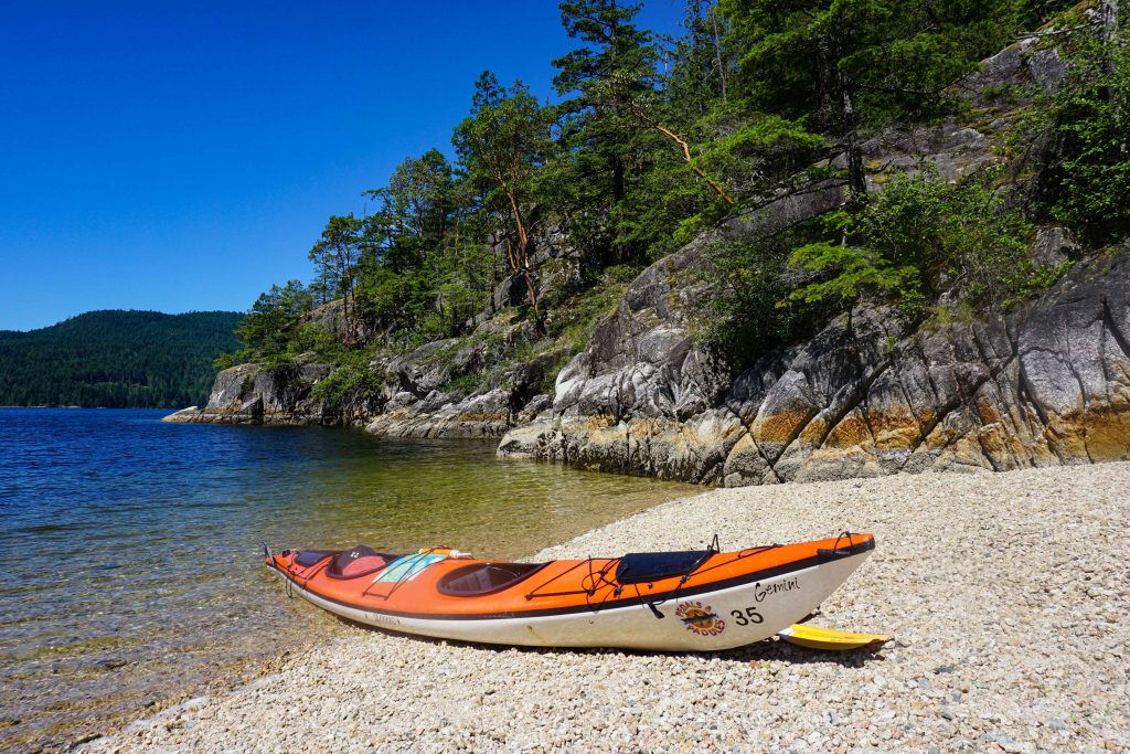 Tuwanek Beach while kayaking the Sechelt Inlet