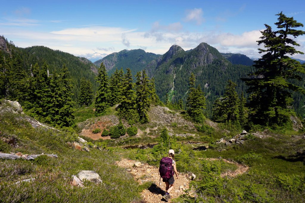 Osprey Sirrus 50 backpack on the Howe Sound Crest Trail