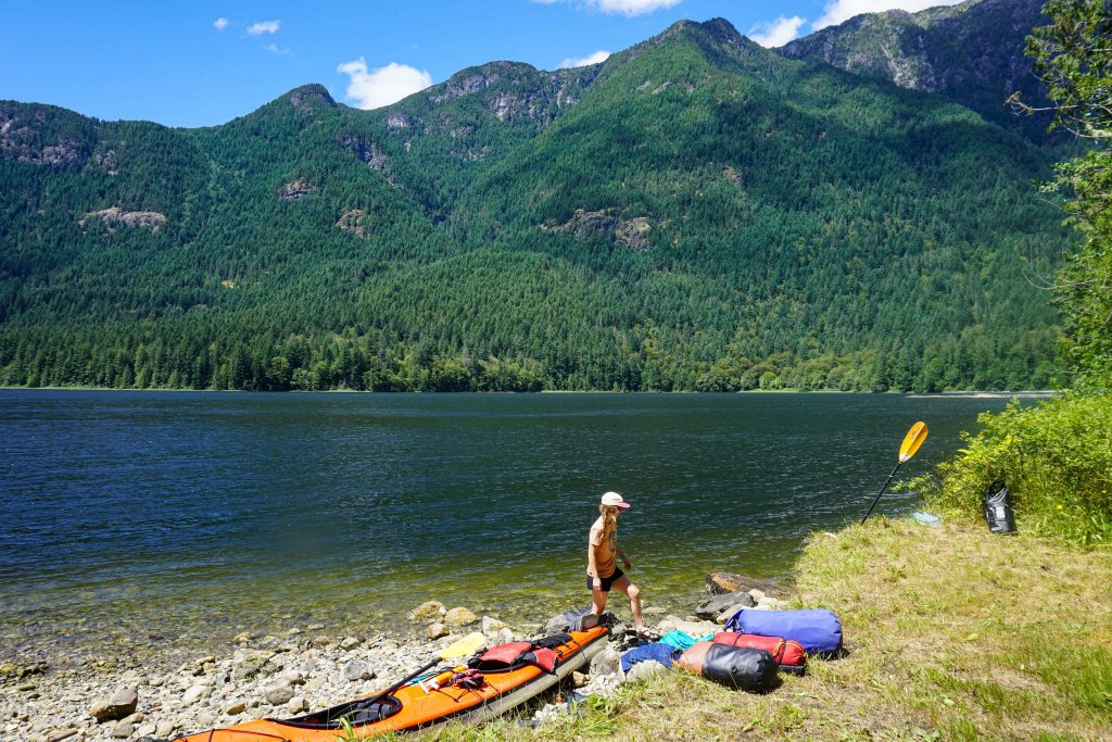 Kayak camping on the Sechelt Inlet