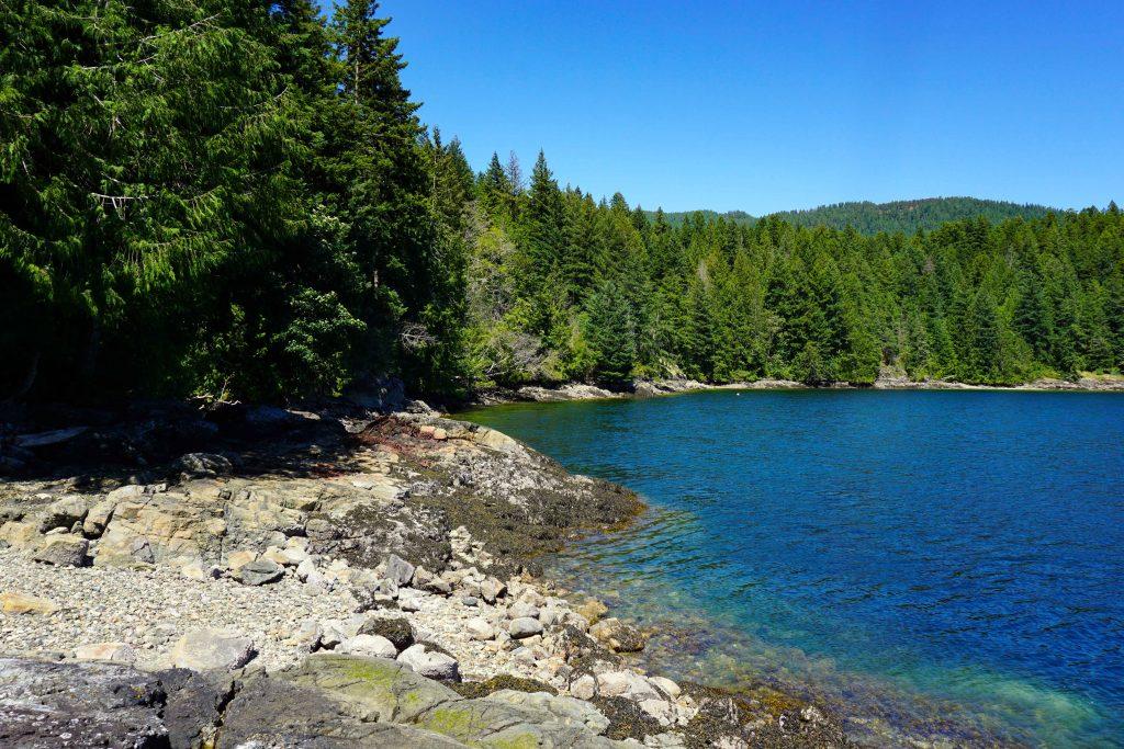 Fairview Bay on the Sunshine Coast Trail